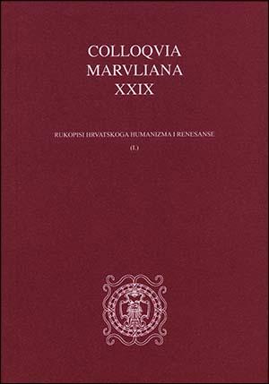 COLLOQVIA MARVLIANA XXIX
