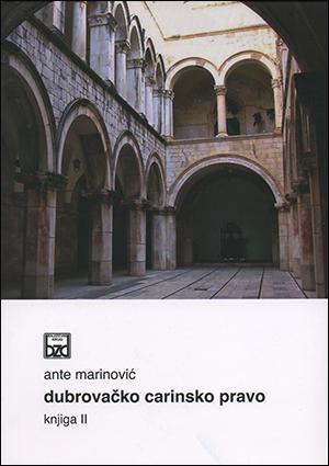 DUBROVAČKO CARINSKO PRAVO knjiga II