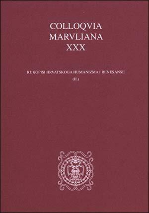 COLLOQVIA MARVLIANA XXX